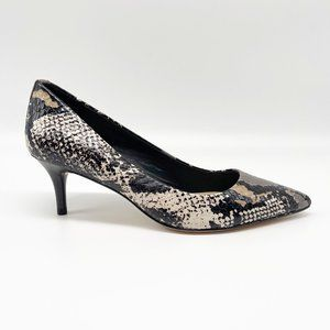 COACH Lacey Snake Print Pointy Toe Pump